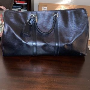Louis Vuitton Black Epi Leather Duffle